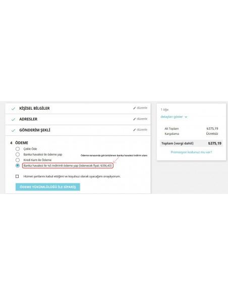Prestashop Banka Havalesi ile Ödemede İndirim Modülü