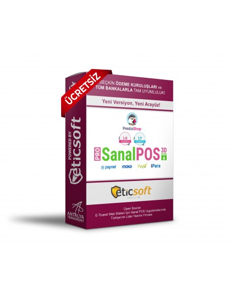Prestashop 3D SanalposPRO + PAYU + IPARA + MOKA (ÜCRETSİZ)